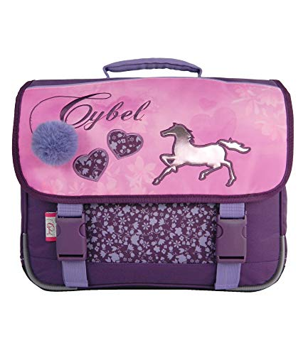 Cartable Cybel Cheval fille CP violet 38 cm