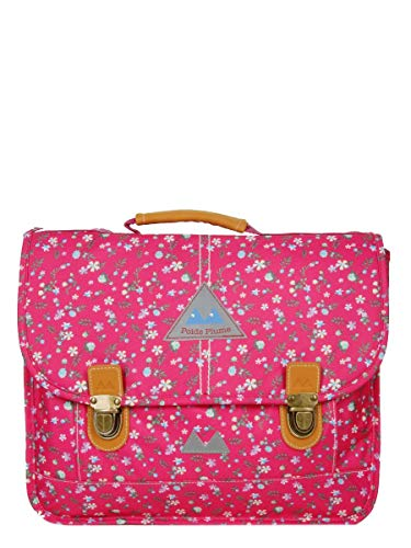 Cartable fille CP Poids plume imprimé liberty rose, fermoirs tuck