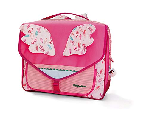 Cartable 35 cm Lilliputien papillon rose
