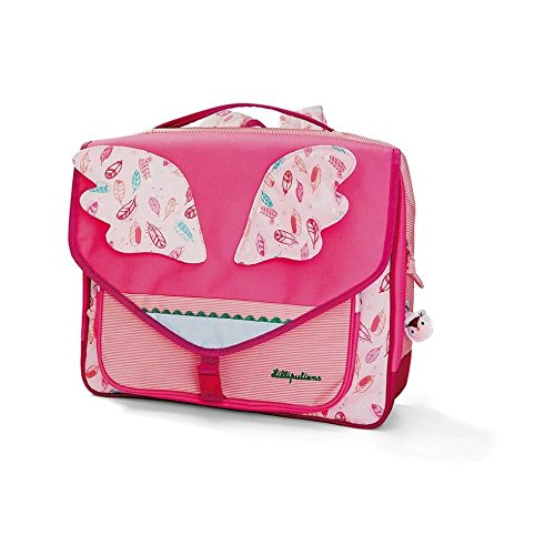 Cartable fille rose maternelle  papillon