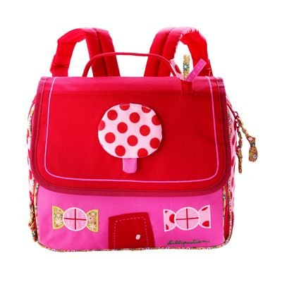 Cartable Lilliputiens fille maternelle rouge et rose