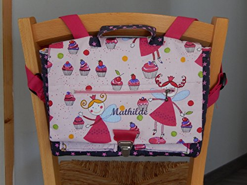 Cartable maternelle fée cupcake personnalisable
