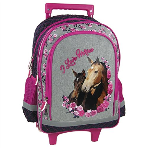 Cartable cheval avec photo Cheval fille CP primaire