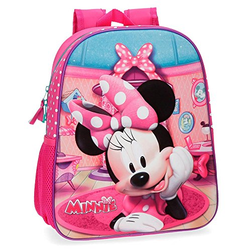 Cartable sac à dos maternelle fille rose Minnie