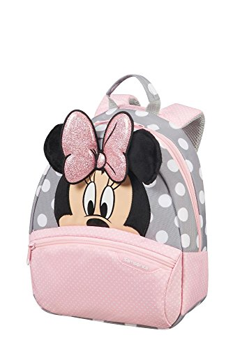 Cartable sac à dos maternelle fille rose et gris Minnie