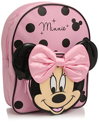 Cartable sac à dos maternelle fille rose à pois Minnie