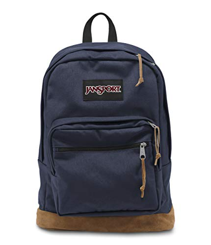 Sac à dos JanSport étudiant look vintage marine et marron