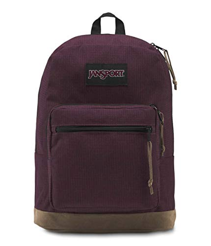 Sac à dos JanSport étudiant look vintage bordeaux et marron