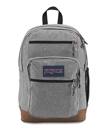 Sac à dos JanSport étudiant look vintage gris et marron