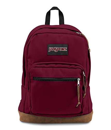 Sac à dos JanSport étudiant look vintage rouge et marron
