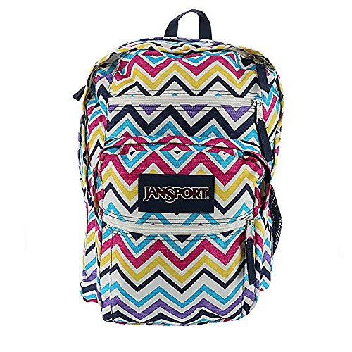 Sac à dos JanSport étudiant pour laptop rayé multicolore