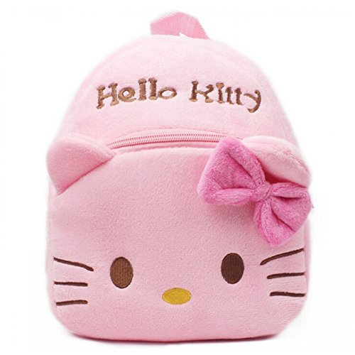 Sac à dos cartable maternelle hello kitty fille rose peluche