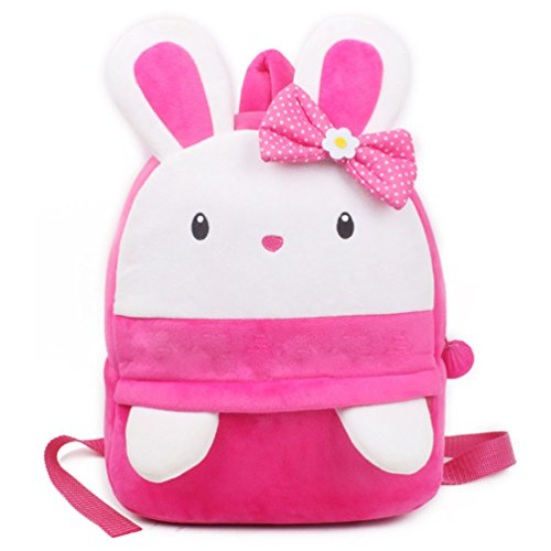 Sac à dos maternelle fille lapin rose doudou