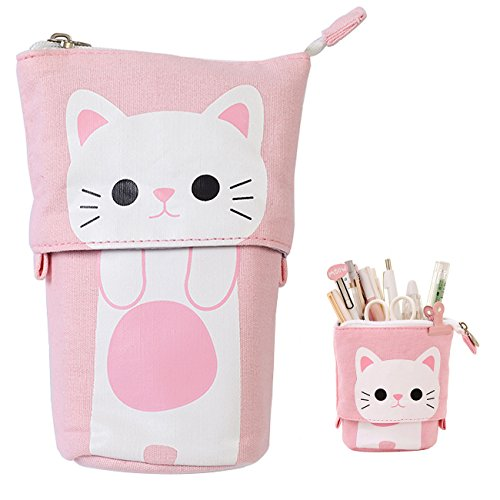 Trousse enfantine transformable en pot de crayons chat